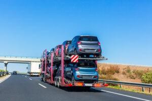 open carrier auto hauler