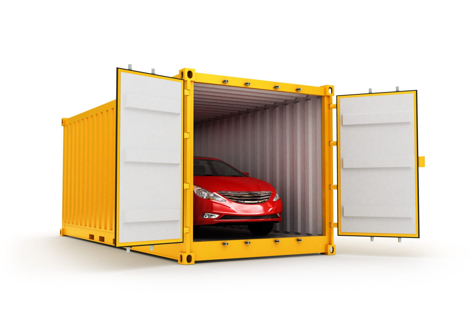 Car in an International Shipping Container