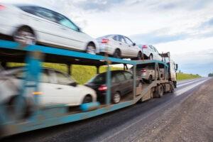 Highway open trailer auto transport