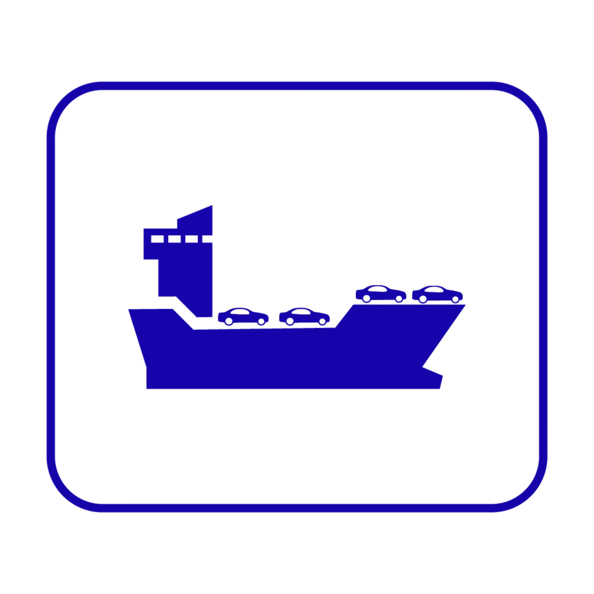 RORO International Shipping Icon