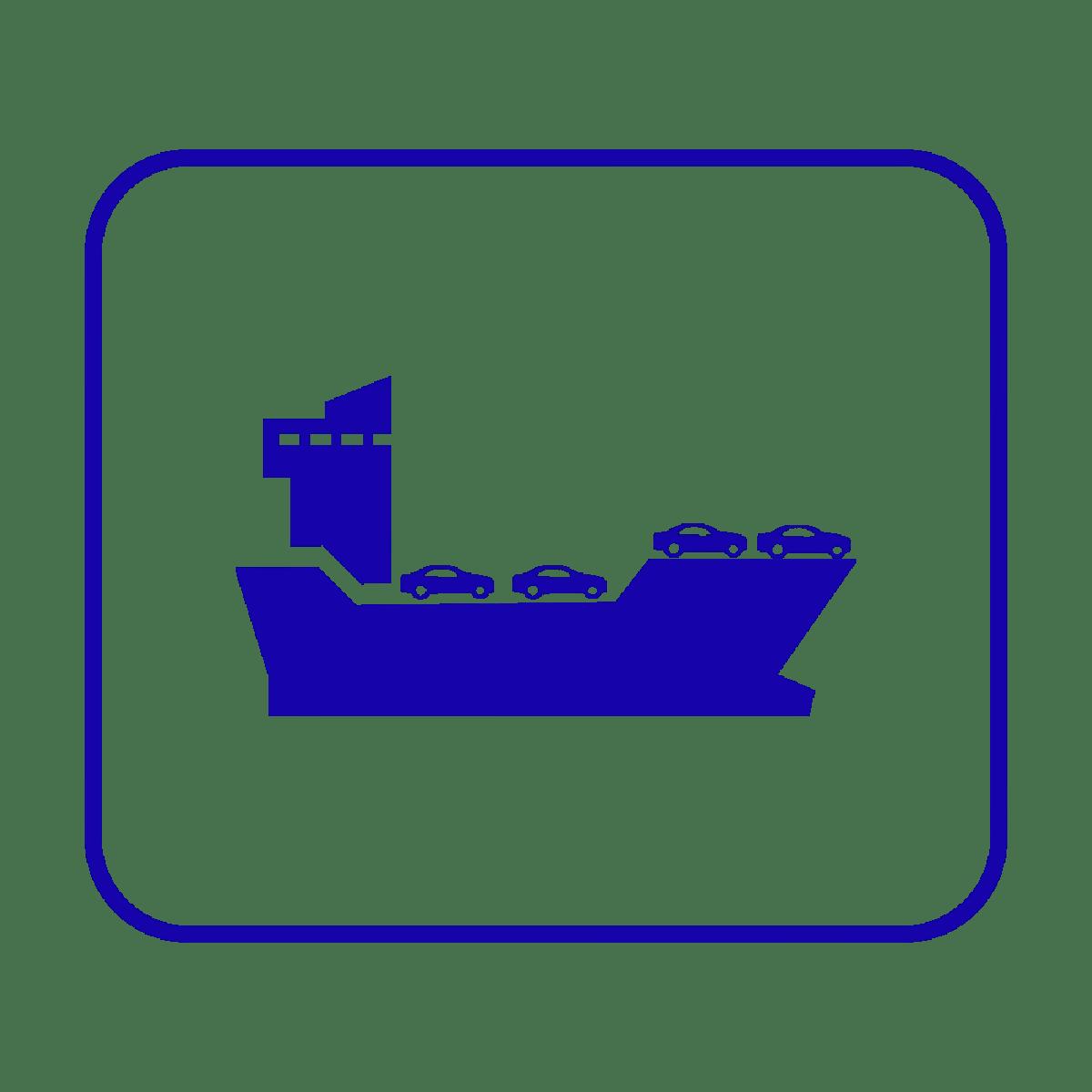 RORO International Shipping Icon