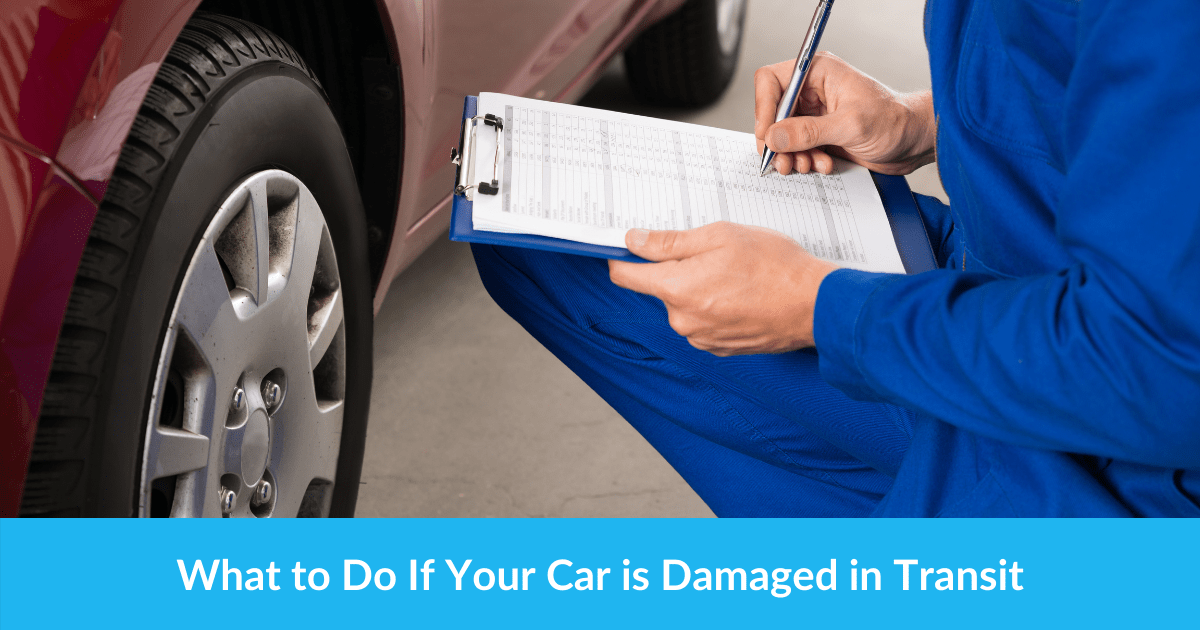 What to Do If Your Car is Damaged in Transit